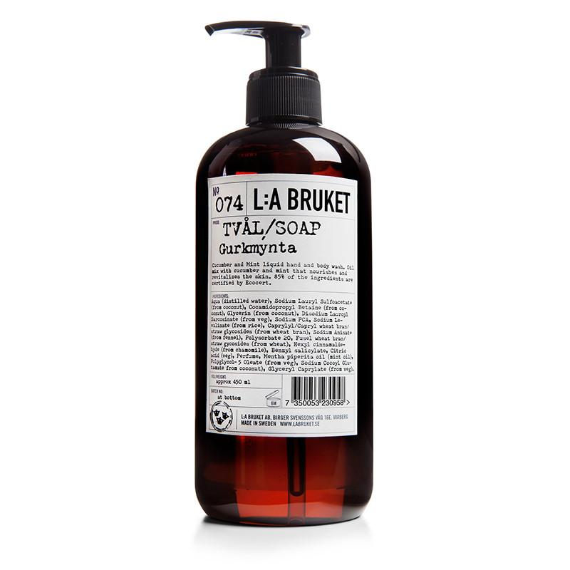 LA Bruket Håndsæbe Agurk / Mynte 450 ml