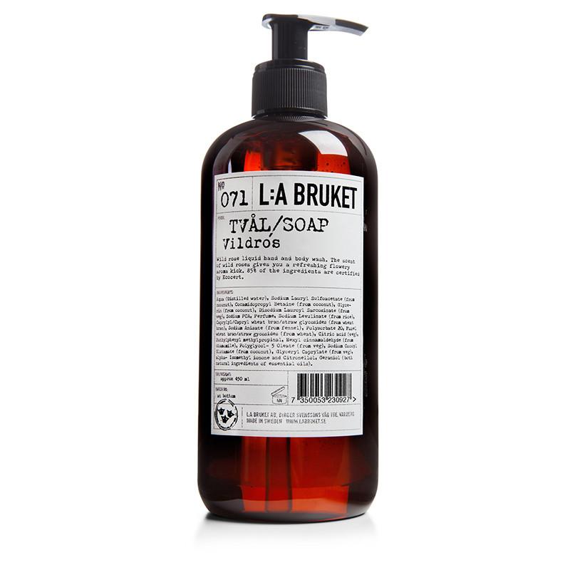 LA Bruket Håndsæbe-Bodywash Vildrose 450 ml