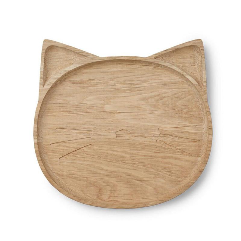 Liewood træ tallerken, Conrad Wooden Plate, Kat
