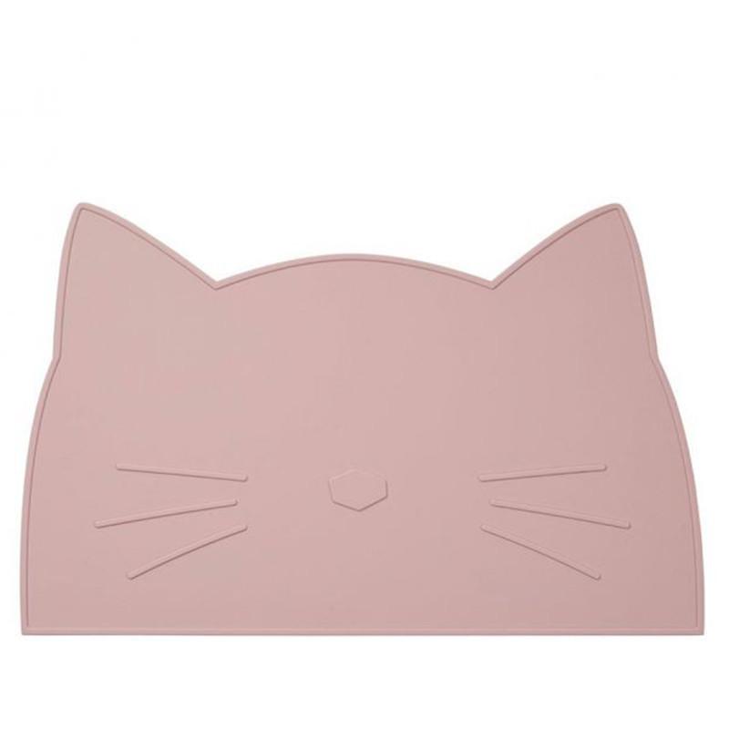 Liewood dækkeserviet Kat i rosa