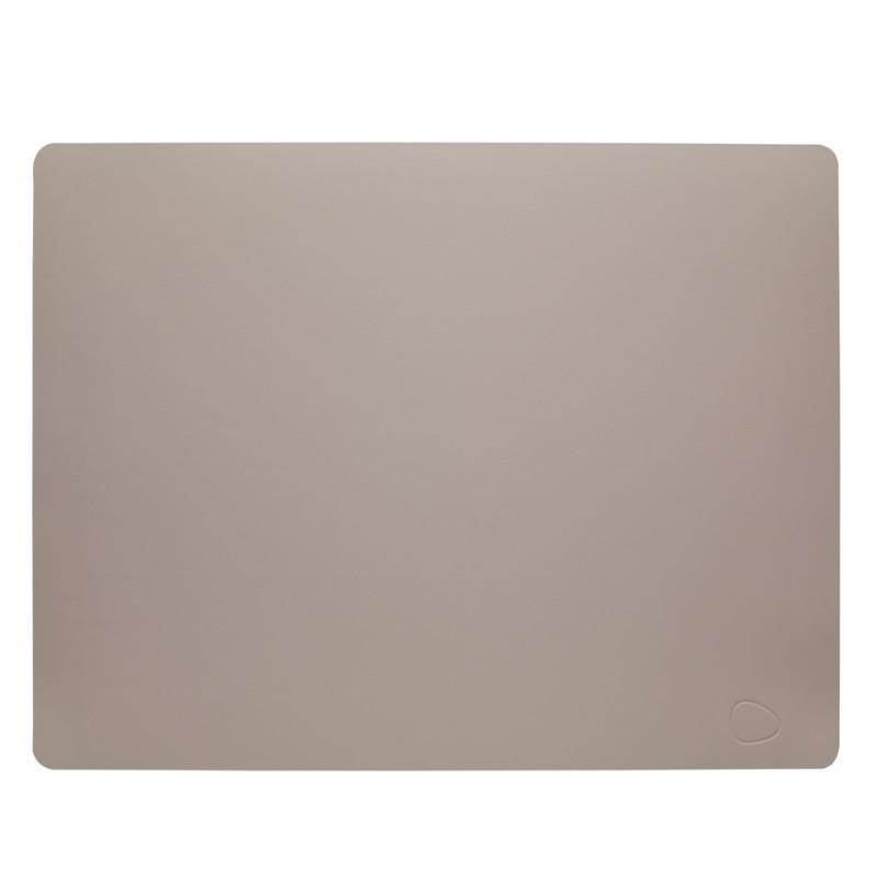 Lind DNA Table Mat Dækkeserviet Square Cool Grey Softbuck