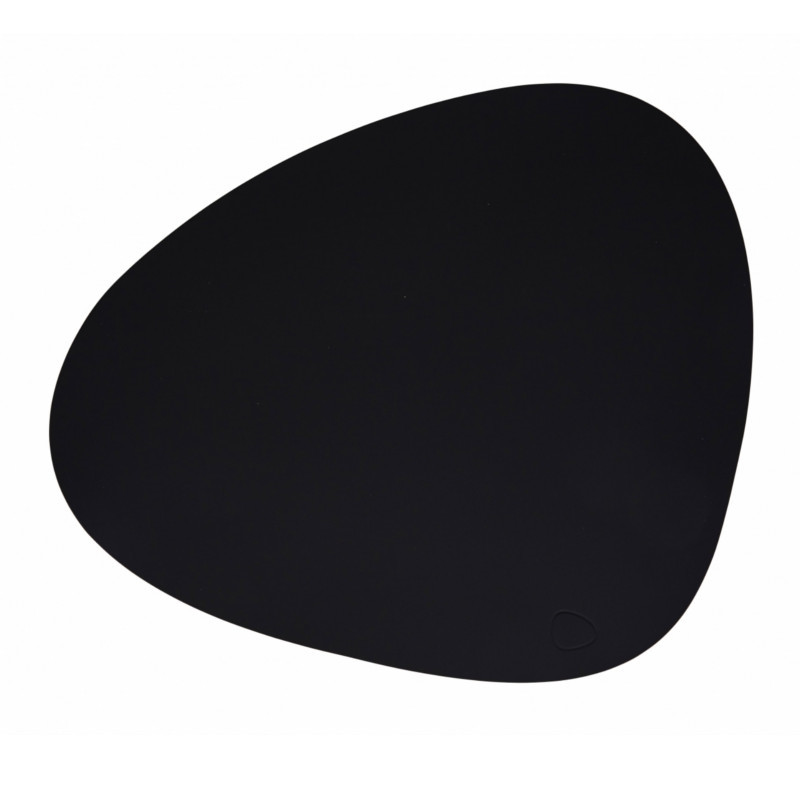 Lind DNA Tablemat Dækkeserviet Curve Black-Softbuck
