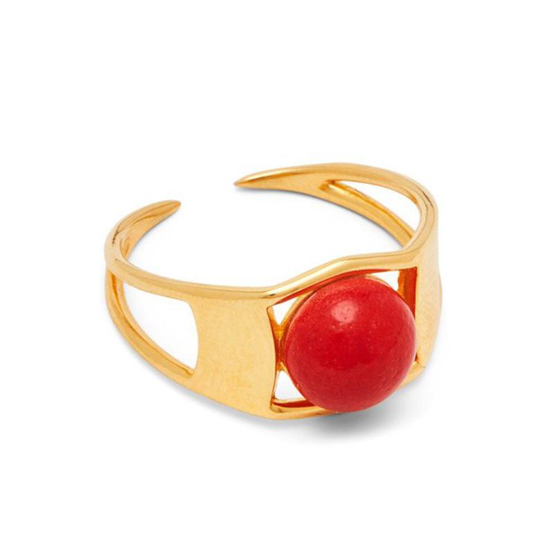 Louise Kragh Ring Arch Guld Rose