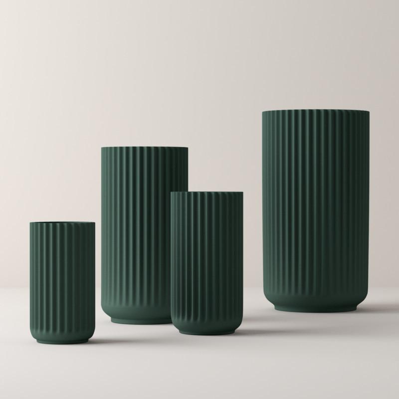 Lyngby Porcelæn Vase Mat Copenhagen Green