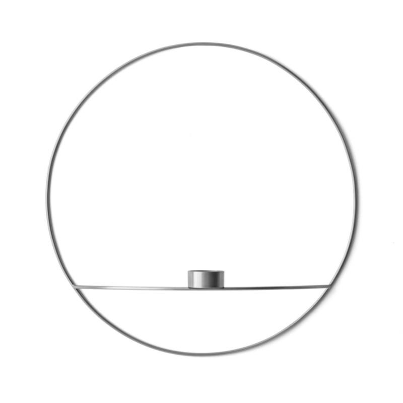 Menu POV Circle Fyrfadsstage Large Sølv