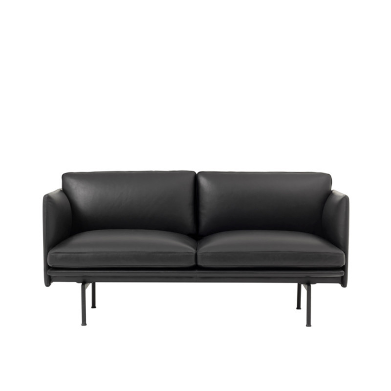 Muuto Outline Studio Sofa Læder Sort