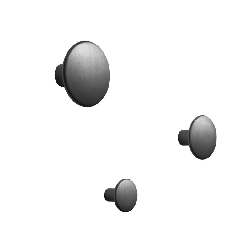 Muuto The Dots Metal Enkeltvis - Sort Aluminium