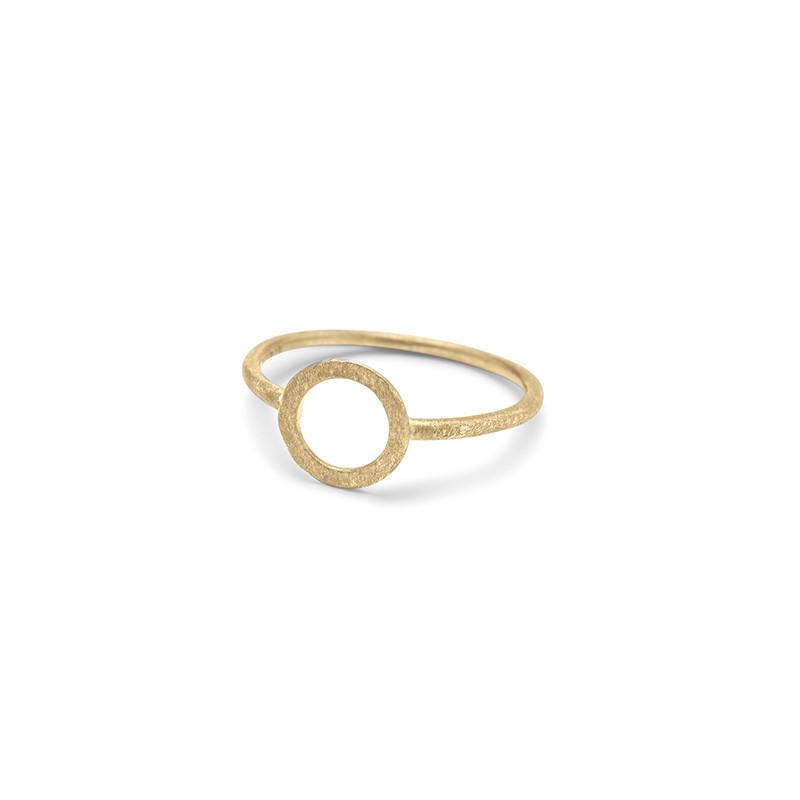 Pernille Corydon Small Open Coin Ring Forgyldt