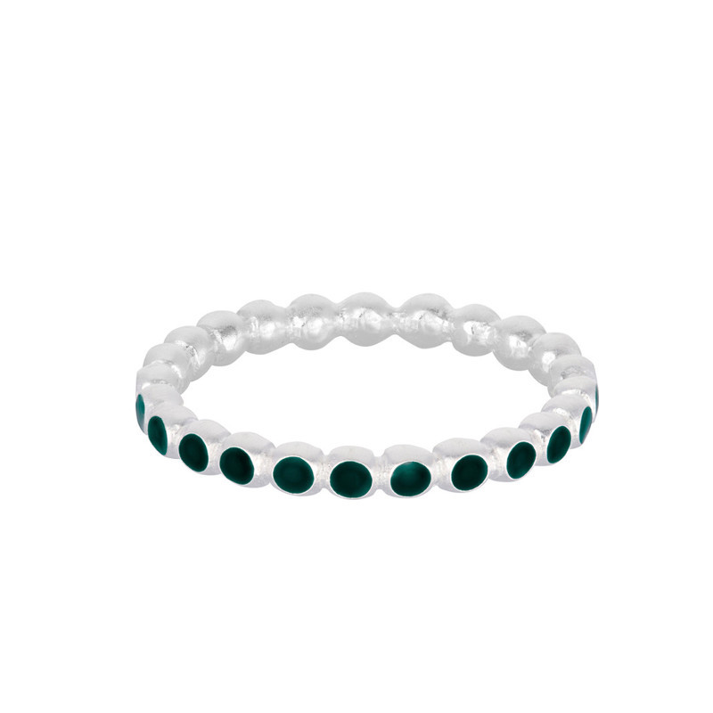Pernille Corydon Ring Pixel Grøn Sølv