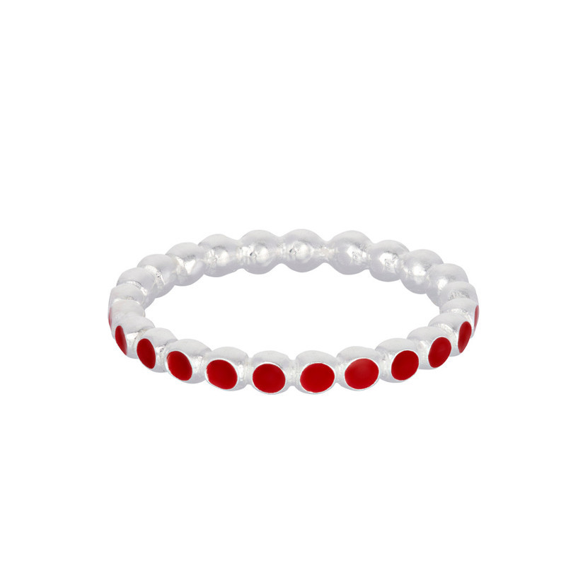 Pernille Corydon Ring Pixel Rød Sølv