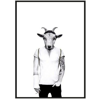 Sanna Wieslander Art Hipster Goat Postkort