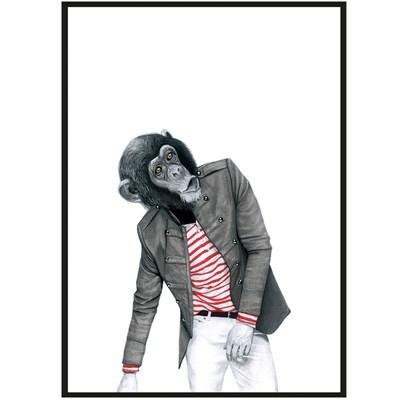 Sanna Wieslander Art Monkey Business Postkort