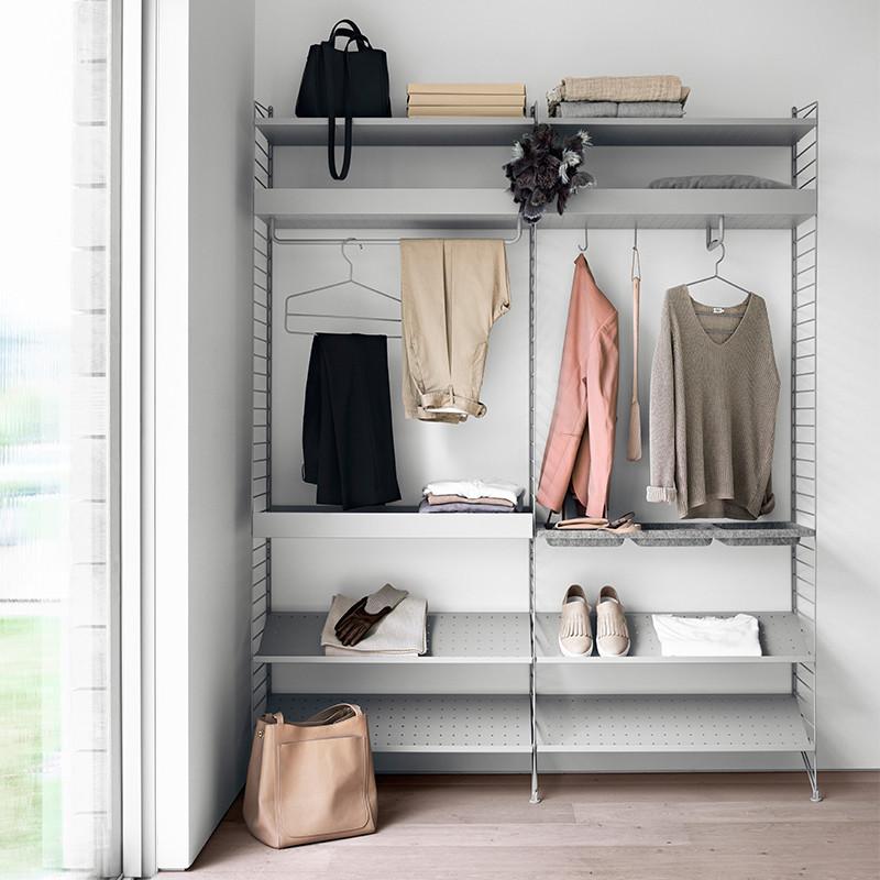 String Garderobe opstilling