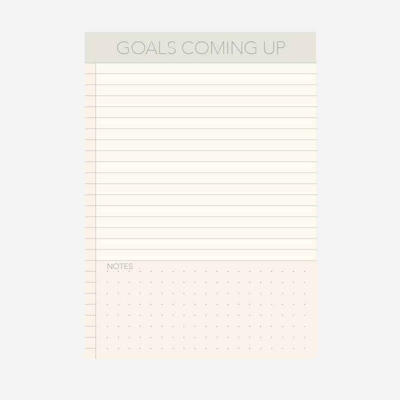 Vissevasse Notesblok A6 Goals Coming Up