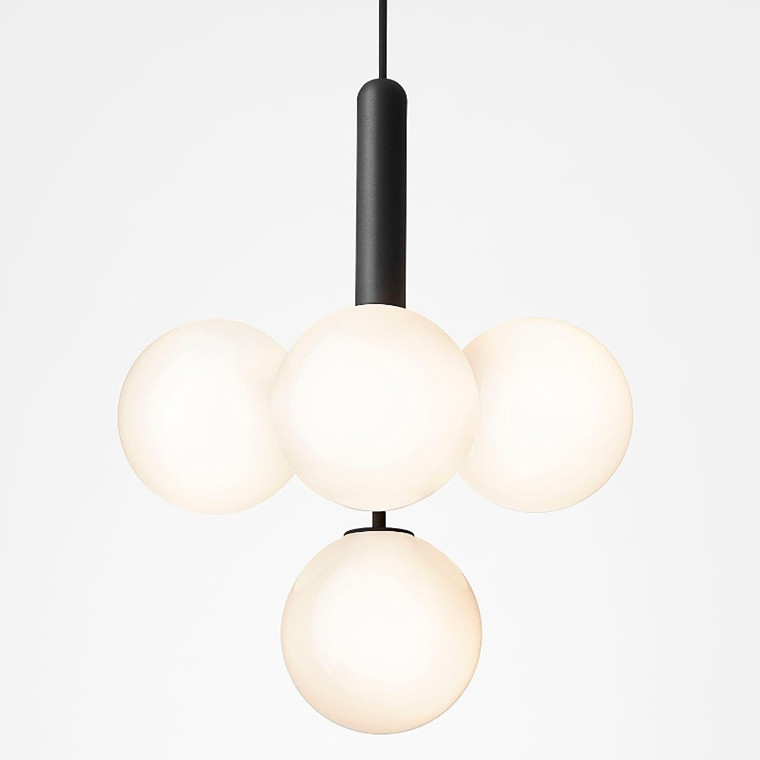Nuura Miira 4 Lampe Rock Grey/Opal Hvid