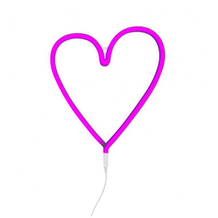 A Little Lovely Company Neon light, Hjerte – pink