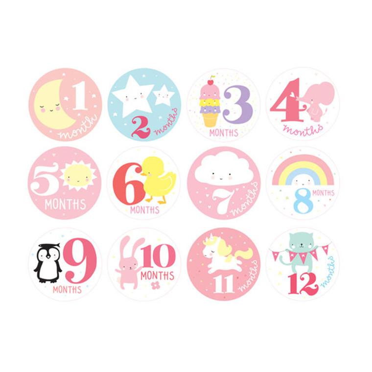 A Little Lovely Company Milestone klistermærker piger