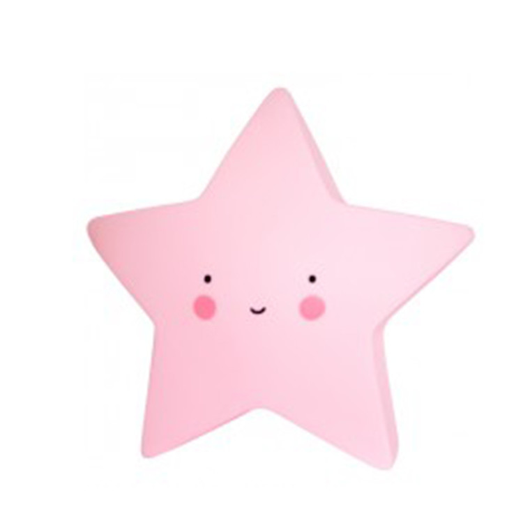 A Little Lovely Company Mini Stjernelampe Pink