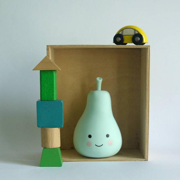 A Little Lovely Company  Mini pear light Grøn