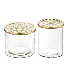 A Simple Mess Vase Kastanje sæt a 2 stk