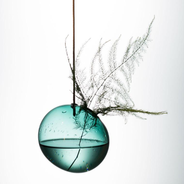 About Form And Function Hænge Boble Vase Cyan 8 cm