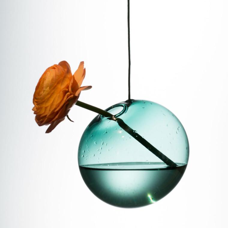 About Form And Function Hænge Boble Vase Cyan 11 cm