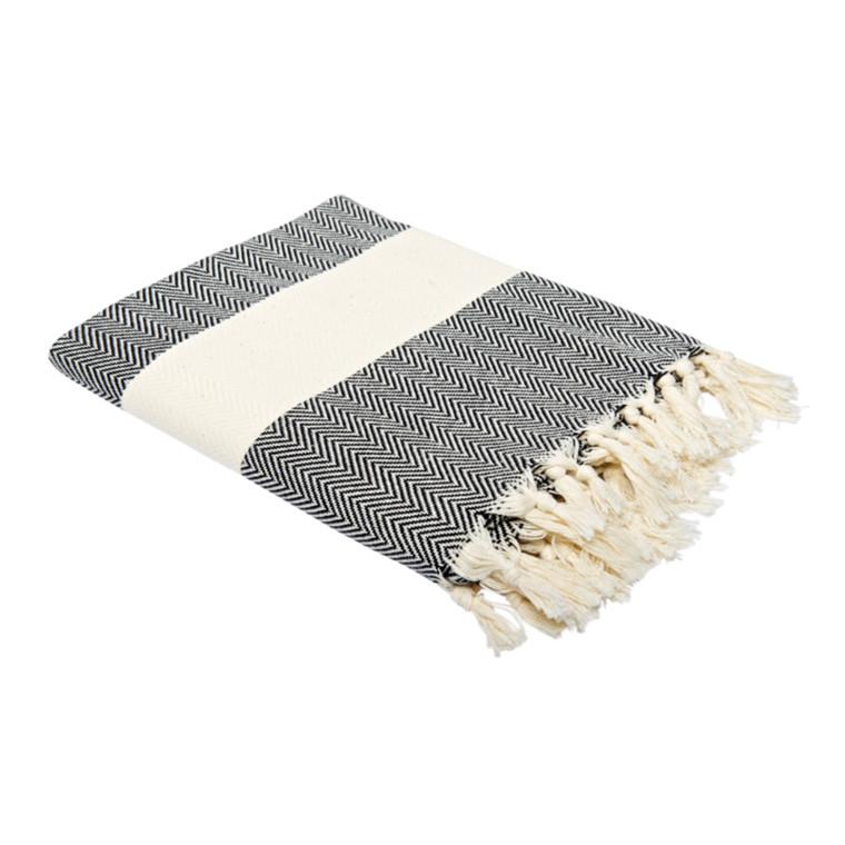 Algan Balik Hamamhåndklæde Sort