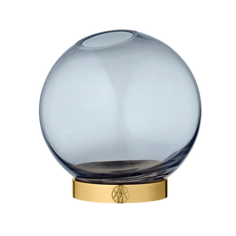AYTM Globe Rund Glas Vase Blå Lille