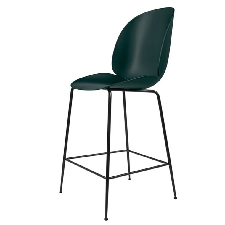 Gubi Barstol Beetle Counter Chair H65 Grøn, Uden Polstring