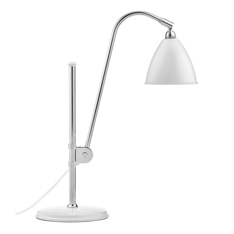 BL1 Bestlite Bordlampe Mat Hvid Krom