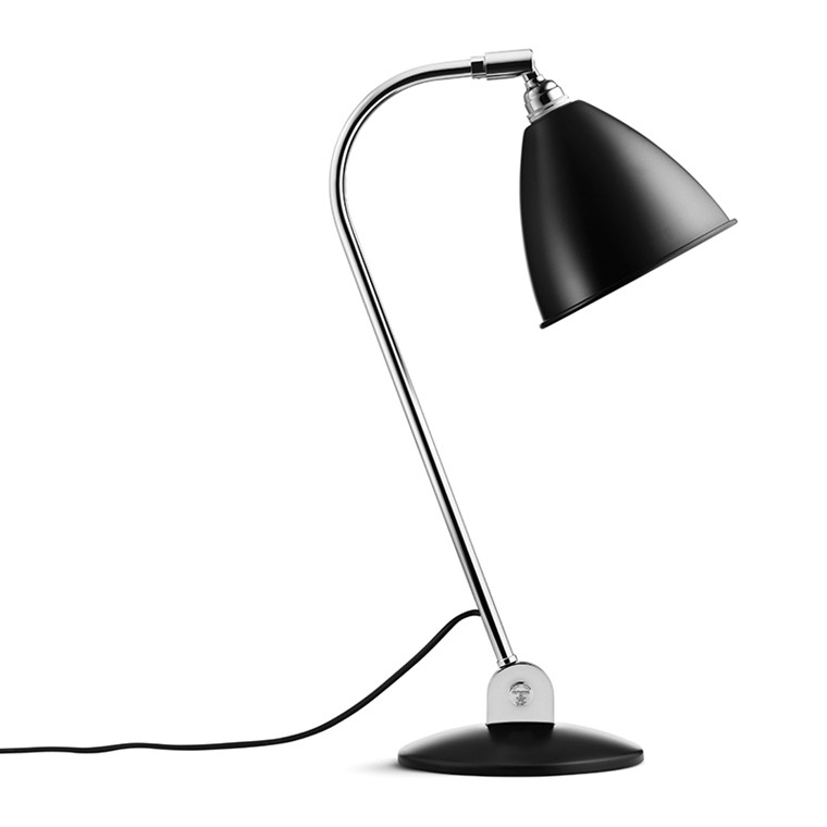BL2 Bestlite Bordlampe Sort Krom