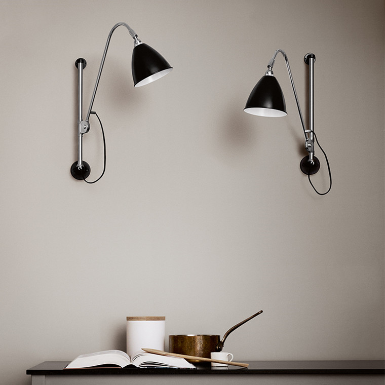 Bestlite Væglampe BL5  Sort Krom