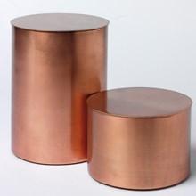 H. Skjalm P. Cylinder krukke med låg Kobber