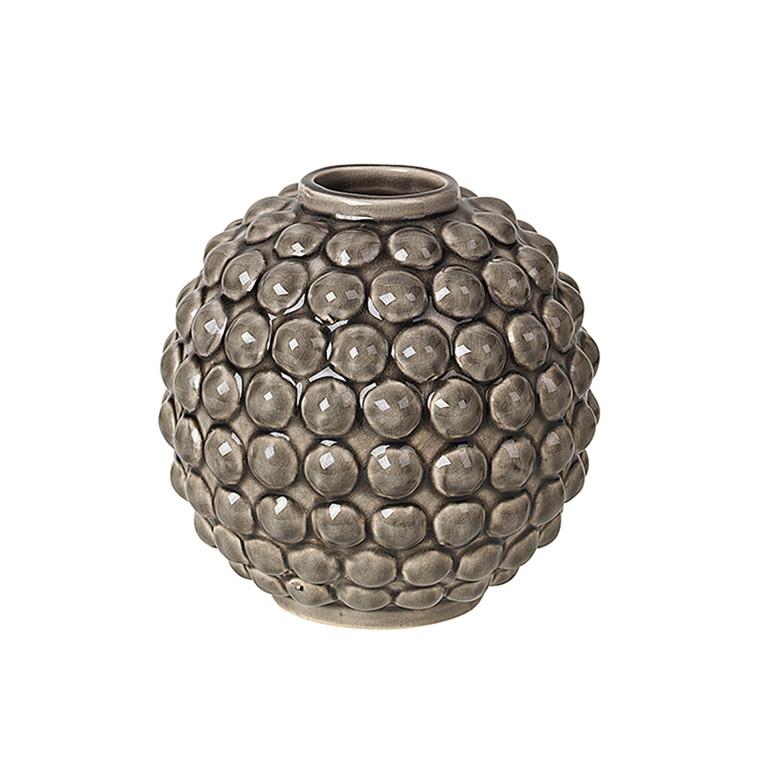 Broste Copenhagen Vase Dotty Rund Rock Ridge
