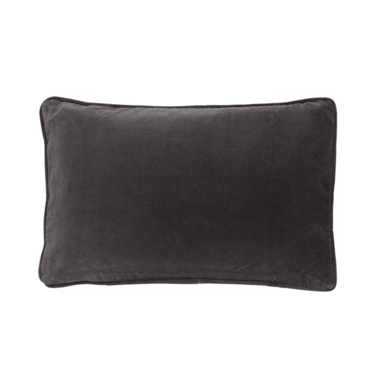 Bungalow Velvet Pude Mørkegrå