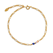 By Thiim Armbånd Figaro Bracelet Lapis