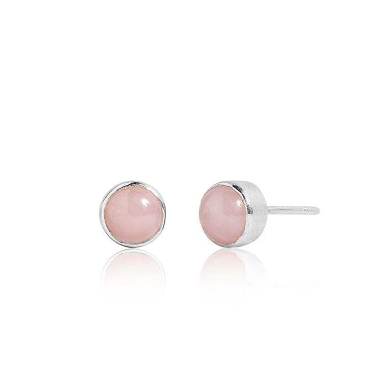 Carré Jewellery Archive Ørestikker Sølv Pink Opal