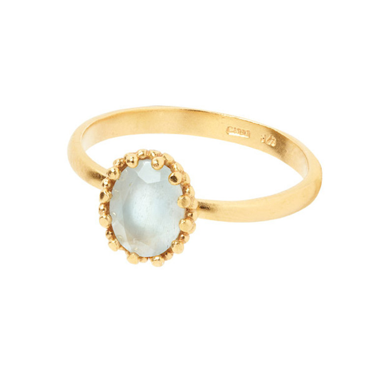 Carré Jewellery Gilded Marvels Ring Guld Akvamarin
