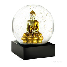 Coolsnowglobes gold buddha