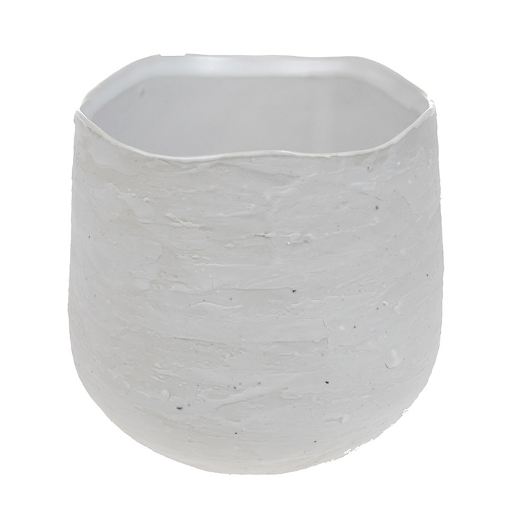 Cozy Room Urtepotte, Hvid Krakeleret Keramik, Stor