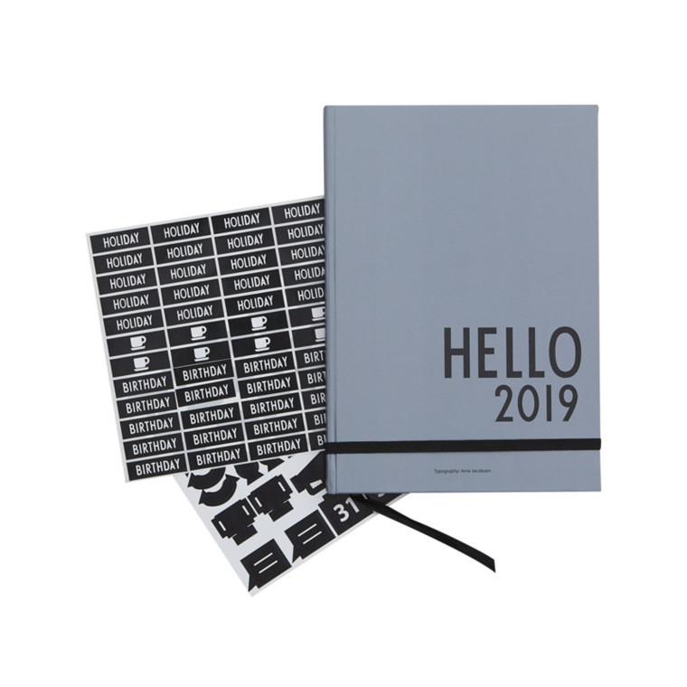 Design Letters Kalender 2019 Grå