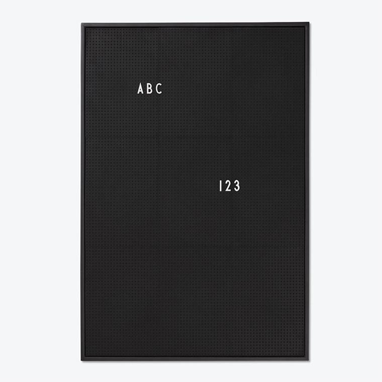 Design Letters Message Board opslagstavle Sort A2