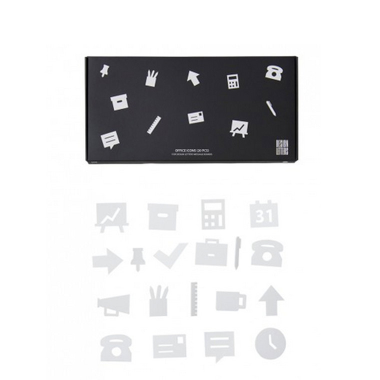 Design Letters Office icons for Message Boards Hvid