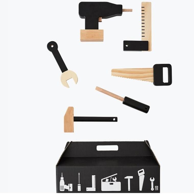 Design Letters Tool School Værktøj træ - 6 stk