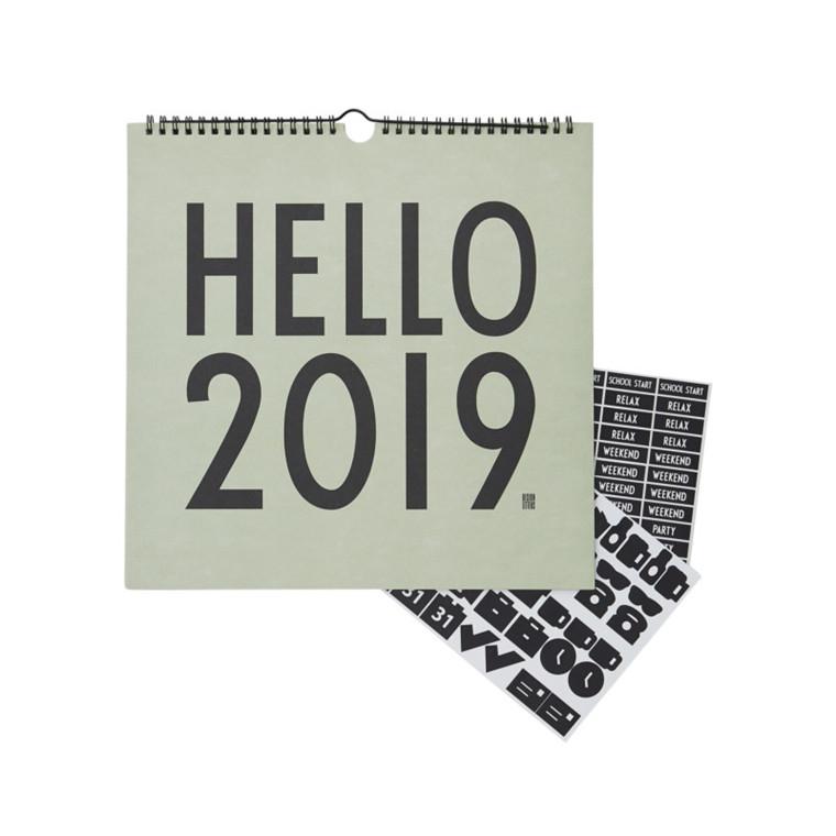 Design Letters Vægkalender 2019 Grøn