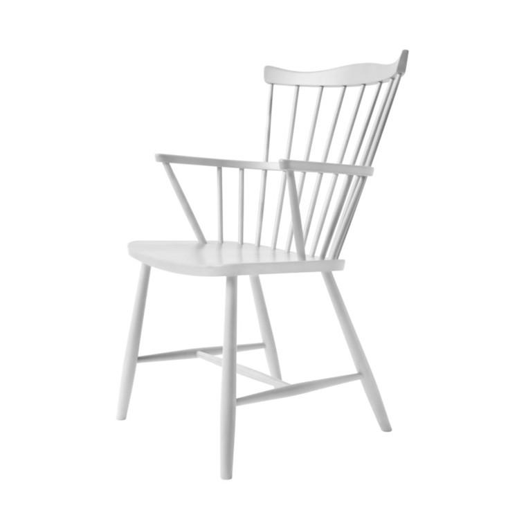 FDB J52B Børge Mogensen Spisebordsstol Hvidlakeret Bøg