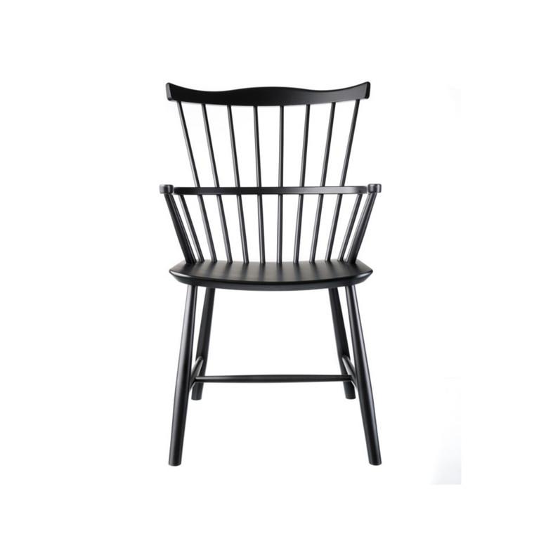 FDB J52B Børge Mogensen Spisebordsstol Sortlakeret Bøg