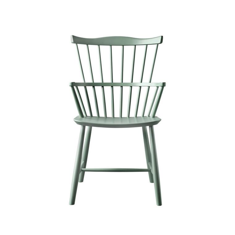 FDB J52B Børge Mogensen Spisebordsstol Støvet Grøn Bøg
