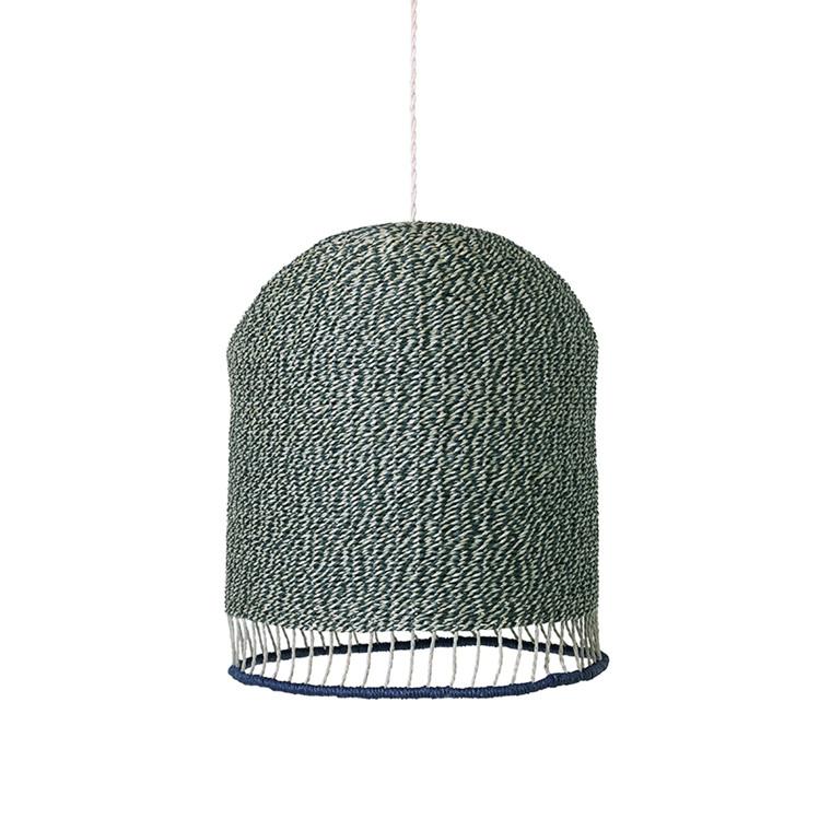 Ferm Living Braided Lampeskærm Støvet Grøn