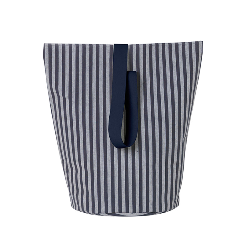 Ferm Living Chambray Vasketøjskurv Striped, Large